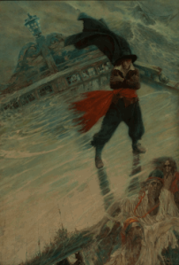 The Flying Dutchman, published in Collier's Weekly, December 8, 1900 (oil on canvas), by Howard Pyle (1853–1911)