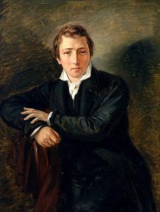 Heinrich Heine: portrait by Moritz Daniel Oppenheim