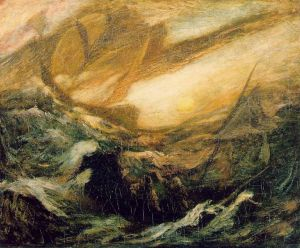 The Flying Dutchman by Albert Pinkham Ryder (c. 1896)