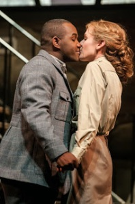 Brownless and Coburn as Tonio and Marie in Daughter at Seattle Opera; photo by Elise Bakketun