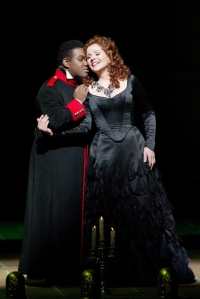 Brownlee with Renée Fleming in Rossini's Armida at the Met; photo by Ken Howard