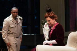 Brownlee and  Joyce Castle (Marquise) in Daughter at Seattle Opera; photo by Elise Bakketu