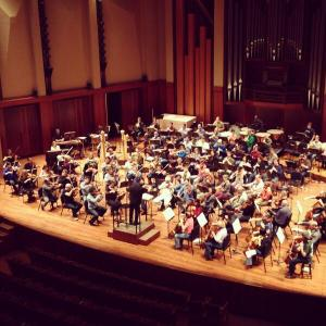 Morlot and SSO rehearsing Mahler 6