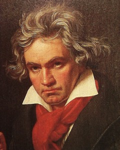 Portrait of Ludwig van Beethoven by Joseph Karl Stieler (1819)