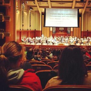 High school students discovering the world of Berlioz at a Seattle Symphony rehearsal
