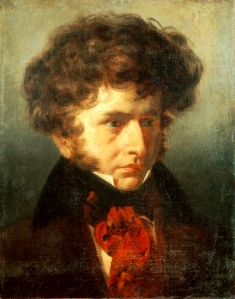 Young Berlioz in 1832, around the time of the Symphonie fantastique ; painting by Émile Signol