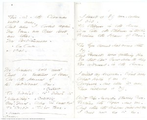 """Pages from Emily Dickinson's small poetry booklet """"fascicles"""""""