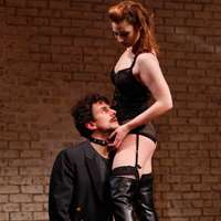 Michael Tisdale and Gillian Williams in Seattle Repertory Theatre's Venus in Fur; photo by Chris Bennion.