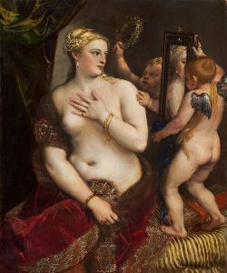Titian, Venujs with Mirror, c. 1555 (National Gallery of Art)