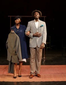 l to r: Nonhlanhla Kheswa and Ivanno Jeremiah in Peter Brook's The Suit. Photo: Pascal Victor, ArtcomArt.