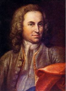Possibly the young J.S. Bach c. 1715; or possibly not; painting by J. E. Rentsch, the Elder