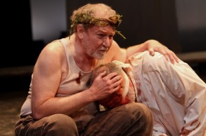 "Dan Kremer and Michael Winters in Seattle Shakespeare Company's production of ""King Lear."" Photo by John Ulman"