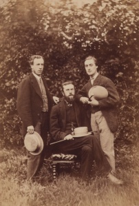 Alfred William Garrett, William Alexander Comyn Macfarlane, and Gerard Manley Hopkins; photo by Thomas C. Bayfield, 1866