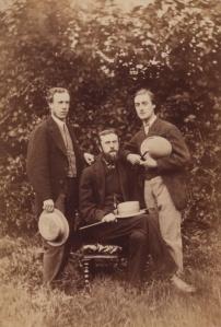 Alfred William Garrett, William Alexander Comyn Macfarlane, and Gerard Manley Hopkins; photo by Thomas C. Bayfield, 1866