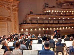 Ludovic Morlot and the Seattle Symphony in rehearsal at Carnegie Hall