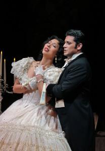 Nicole Cabell (Violetta) and Saimir Pirgu (Alfredo). ©Cory Weaver/SFO