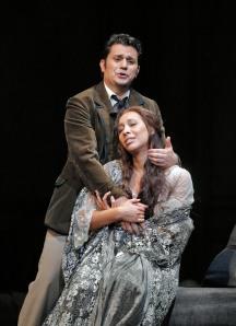 Saimir Pirgu (Alfredo) and Nicole Cabell (Violetta). ©Cory Weaver/SFO