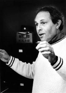 Jacob Druckman in 1986; photo by Irene Haupt