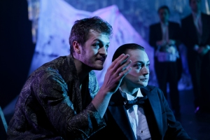 Jay Myers as Orsino and Allie Pratt as Viola. Photo by John Ulman.