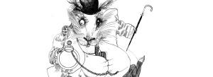 """White Rabbit"" by Ralph Steadman"