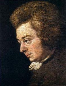 Portrait of Mozart by Joseph Lange