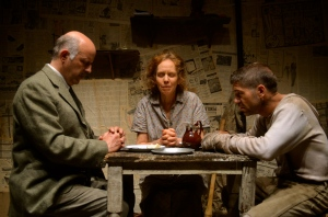 George Catalano, Mary Ewald, and Tim Gouran in Fornes's Mud; (c) Anya Kazanjian
