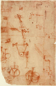 Sketch from Leonardo da Vinci's Codex Atlanticus