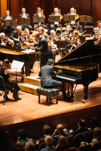 SSO: Opening Night Gala with Ludovic Morlot and Piano Competition winner Kevin Ahfat. Credit: Brandon Patoc Photography
