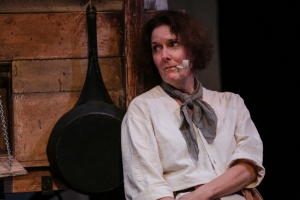Jeanne Paulsen as Mother Courage; photo by John Ulman